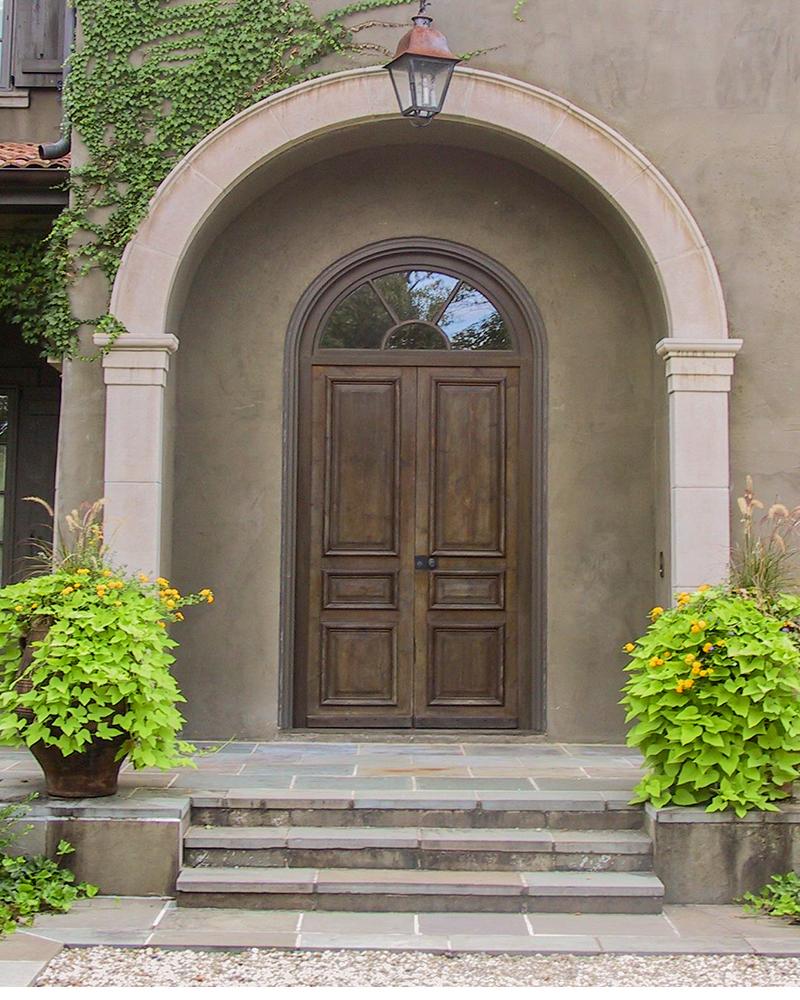 Indiana Limestone Entranceway with Columns