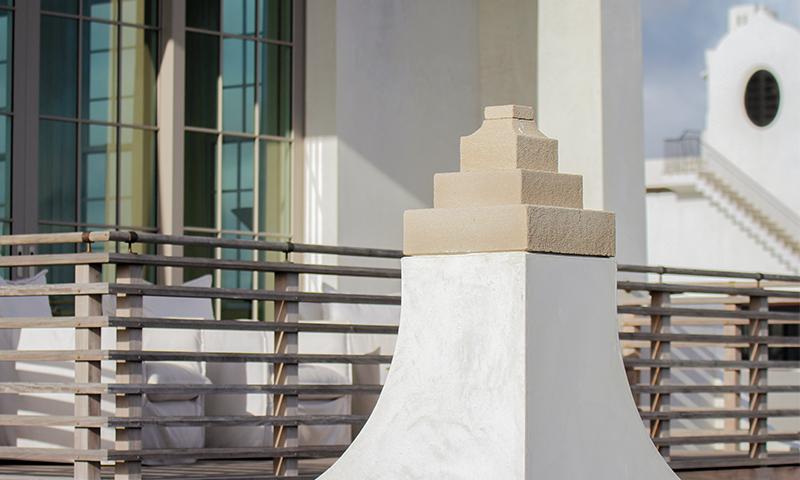 Bushammered Indiana Limestone Architectural Accent Piece