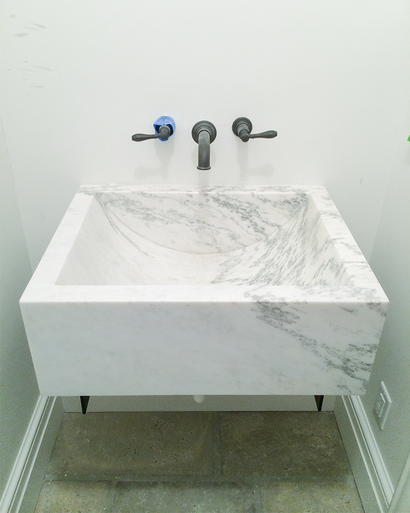 Custom Alabama Marble Sink