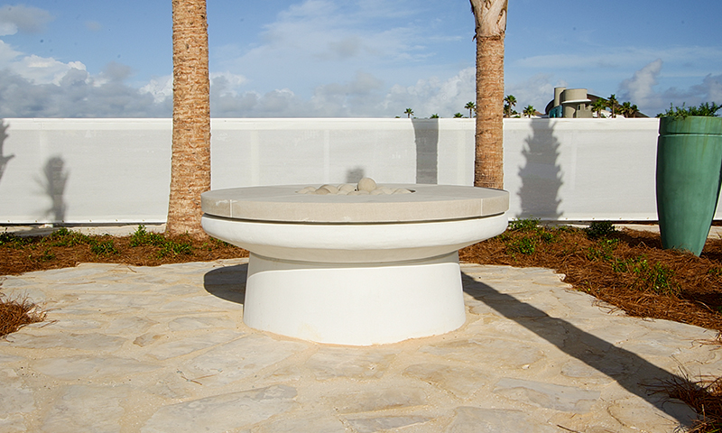 Indiana Limestone Firepit Coping