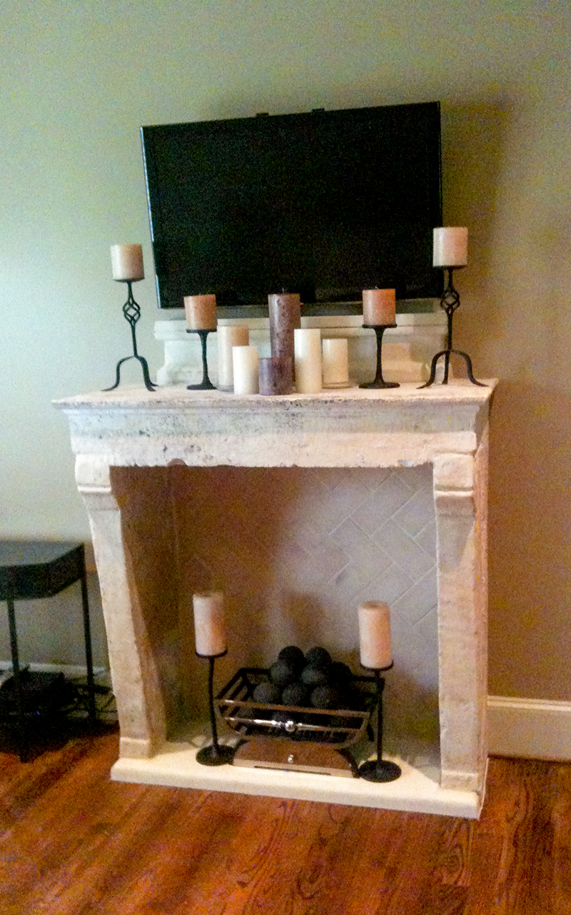 Reclaimed French Fireplace Surround