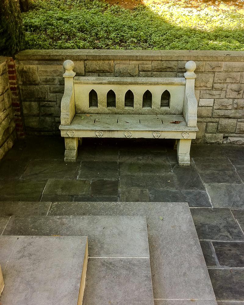 Custom Beignet Limestone Bench