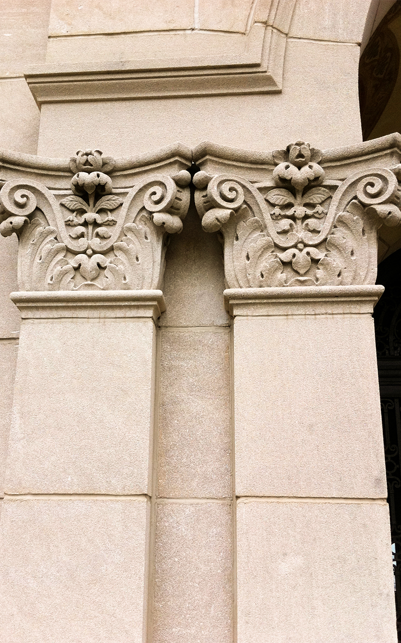 Indiana Limestone Column Capital