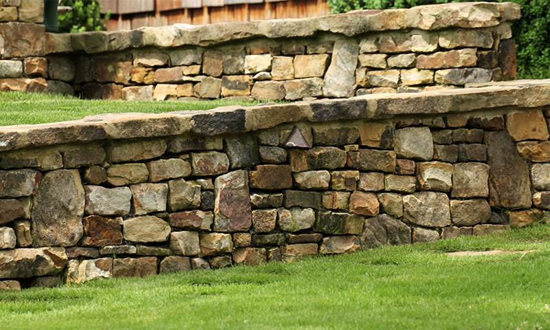 Moss Rock (Fieldstone) Wall Cap