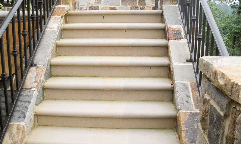 "2"" Bullnosed Indiana Limestone Step Treads"