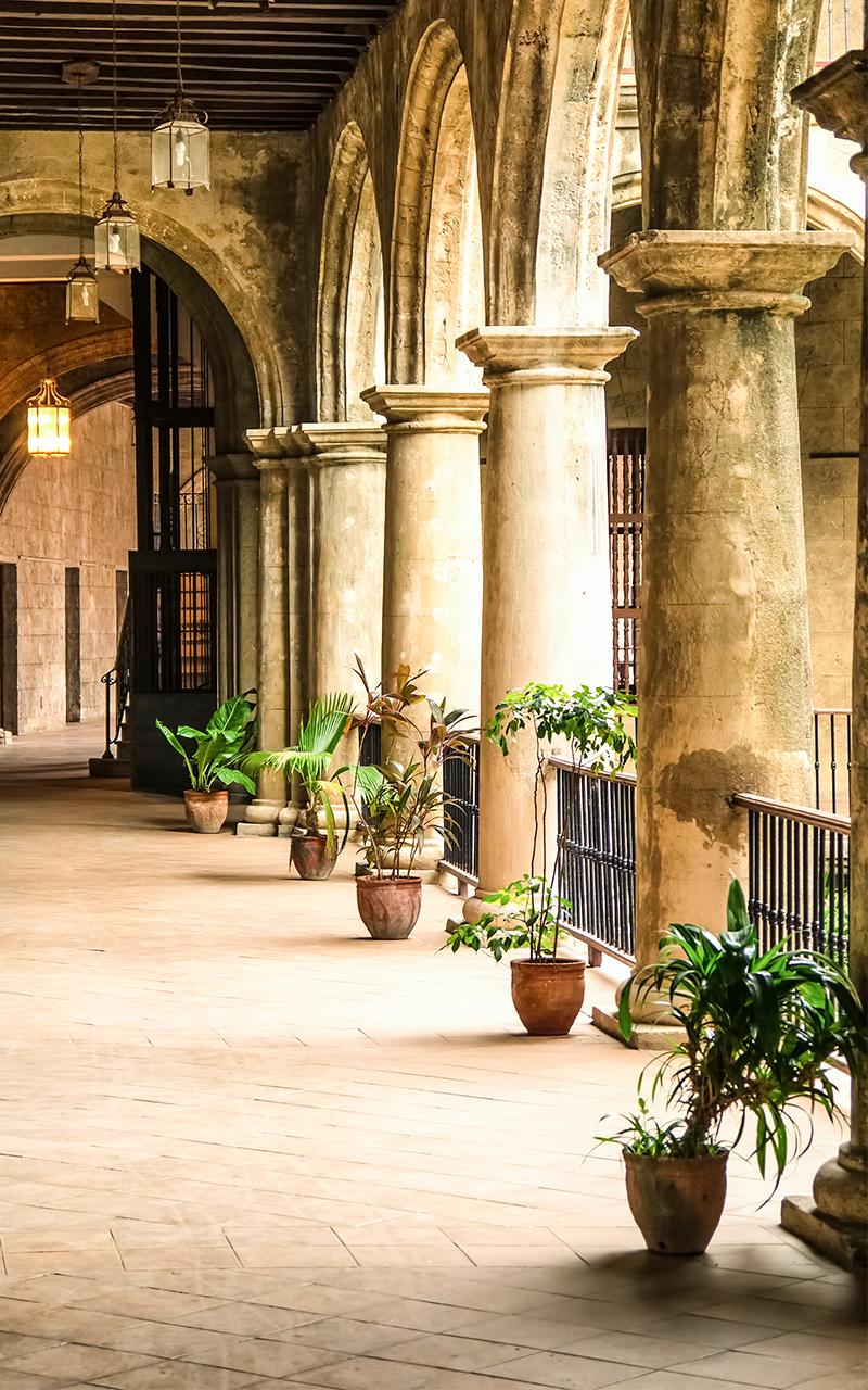 Aged Limestone Columns