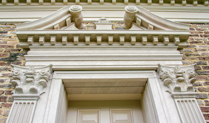 Custom Carved Indiana Limestone Entry Surround