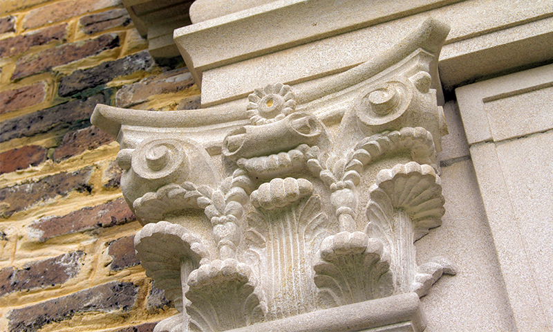 Custom Carved Indiana Limestone Corbel