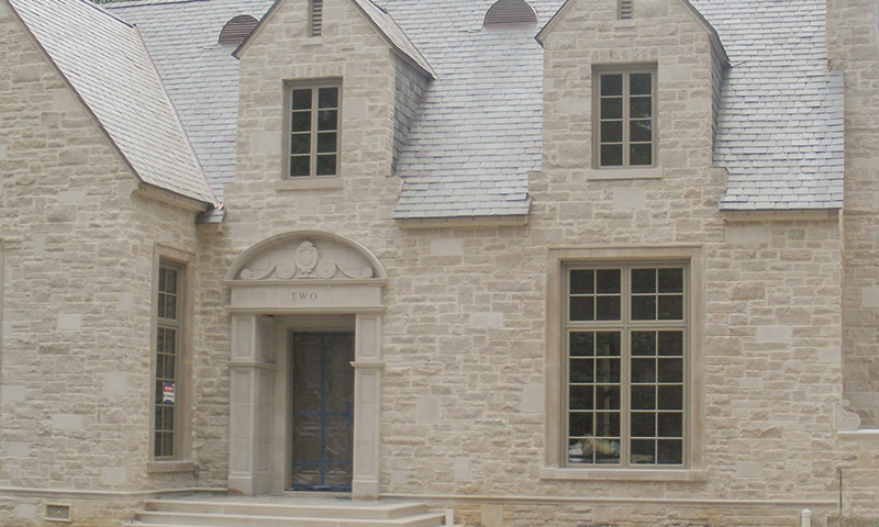 Random Pattern Smooth Face and Splitface Indiana Limestone Blend