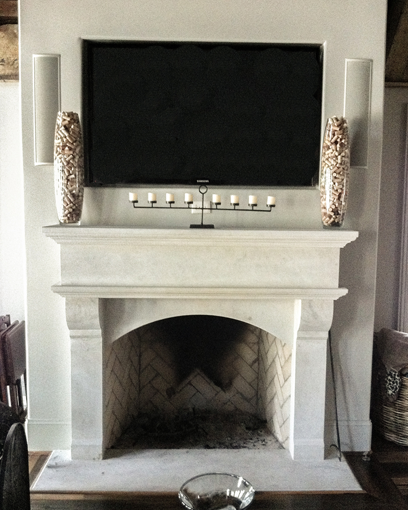 Alabama Limestone Fireplace Surround