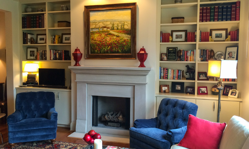 Custom Indiana Limestone Fireplace Surround