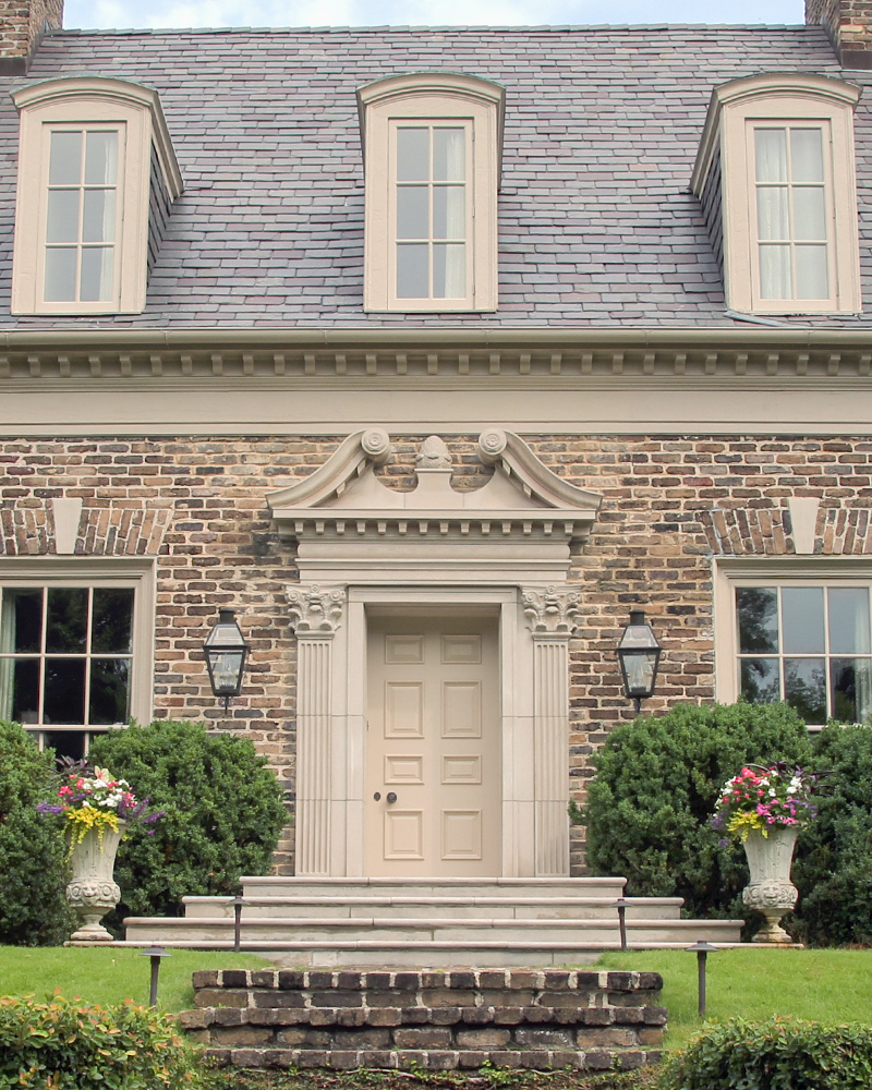Custom Carved Indiana Limestone Entrance Surround
