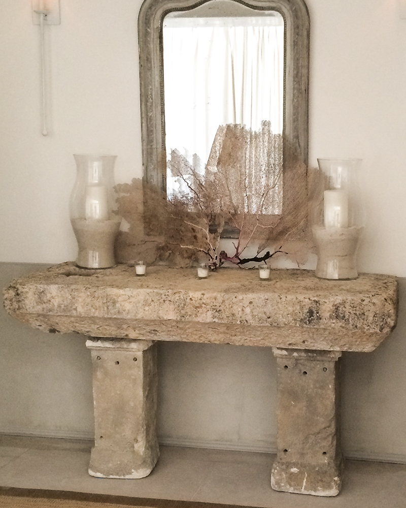 Antique Limestone Table