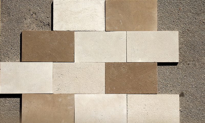 All Indiana Limestone Finishes Laid Together In A Running Bond Pattern
