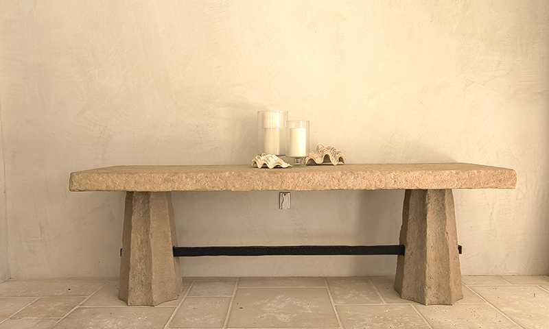 Custom Limestone Table