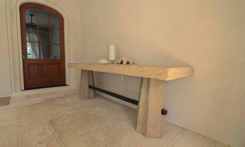 Sandblasted and Acid Washed Moscato Creme Limesone Table
