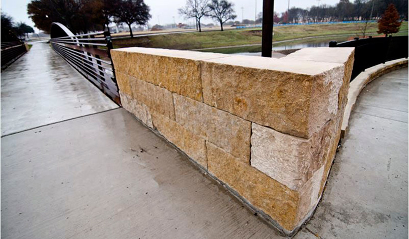 Moscato Creme block Landscape Wall