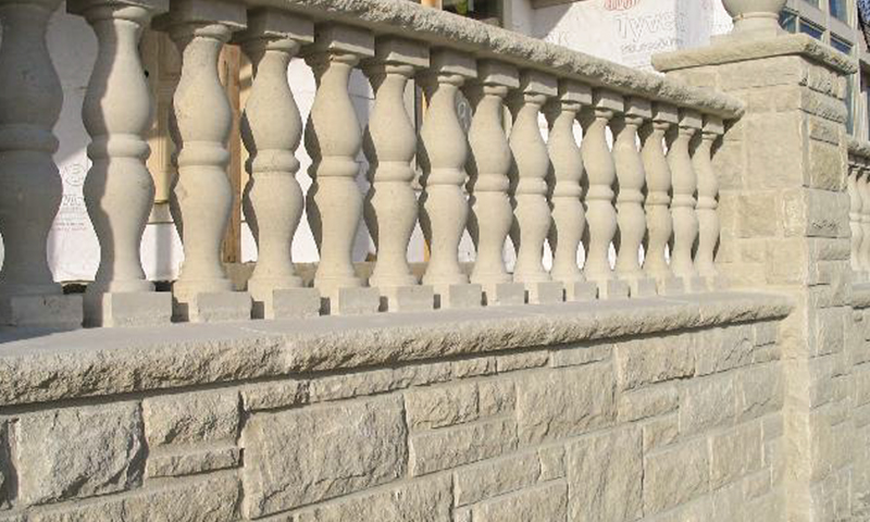 Acid Washed Limestone Balustrade System