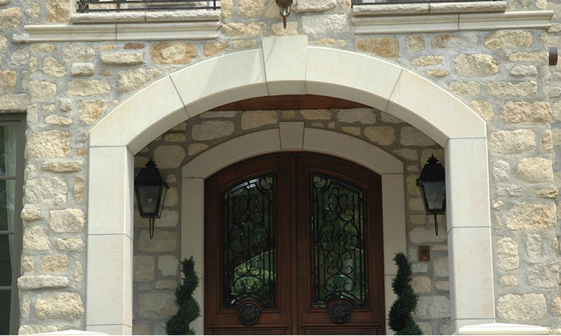 Double Limestone Entryway