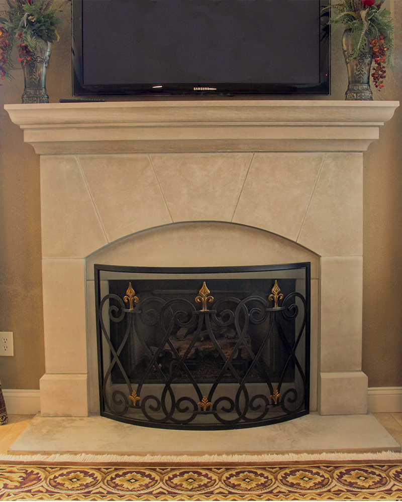 Beeswaxed Finish On An Indiana Limestone Fireplace Surround