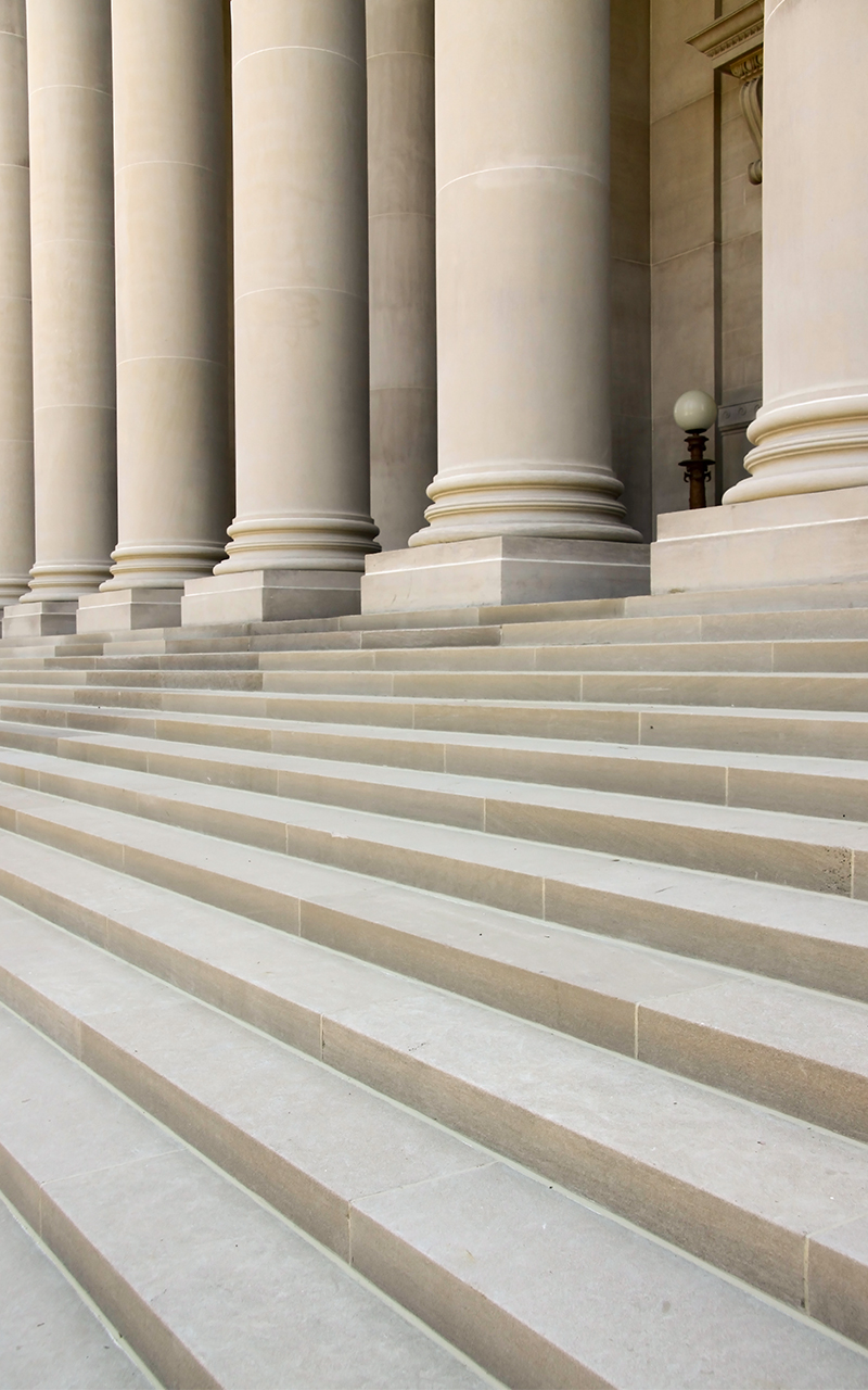 Solid Indiana Limestone Step Treads