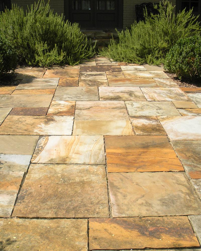 Aged Earthtone Sandstone Flooring