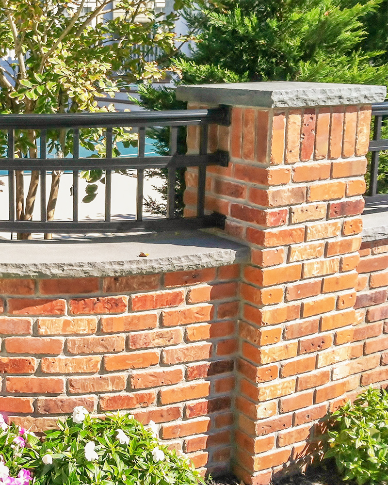 Blue Blue Thermal (Flamed) Finished Pennsylvania Bluestone Border with a Splitfaced Edge