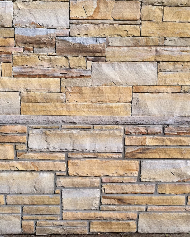 Dry Stack Vs Jointed Earthtone Strip Rubble (Building Stone)