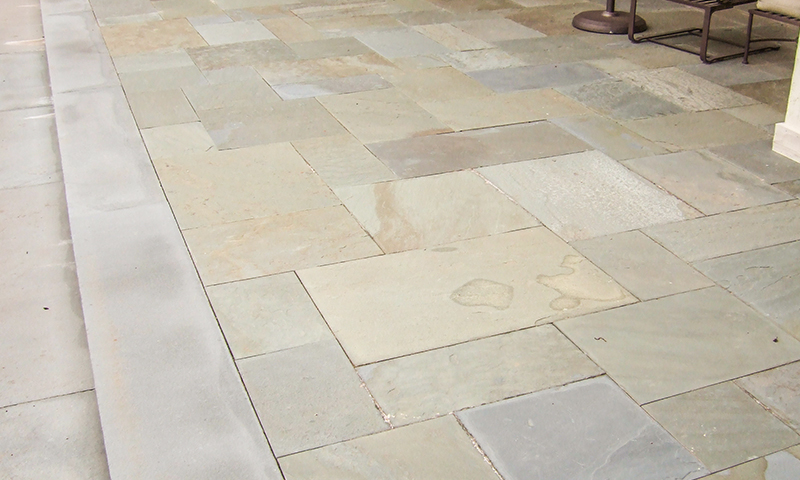 Full Color Range Natural Cleft Pennsylvania Bluestone Laid In A Butt Jointed 6in Multiple Pattern