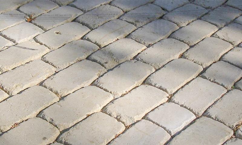 Indiana Limestone Cobblestone Driveway