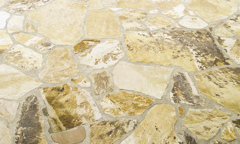 Irregular Shape Earthtone Flagstone Flooring