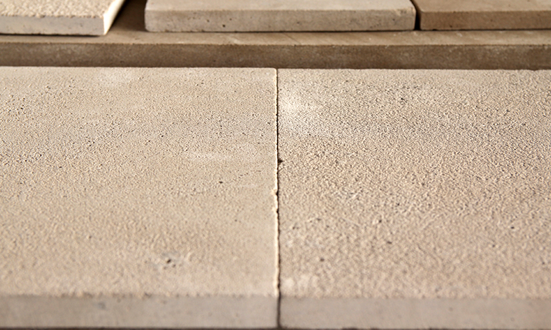 Light Sandblasted Finish vs Medium Sandblasted Finish Indiana Limestone