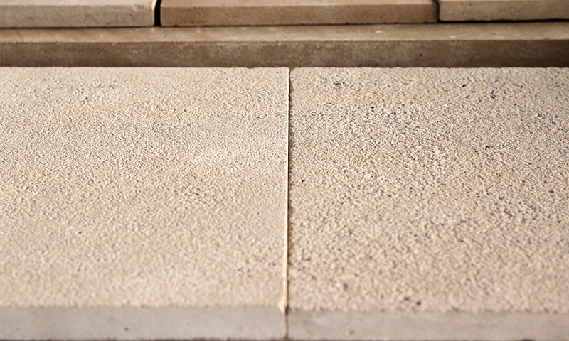 Medium Sandblasted Finish vs Heavy Sandblasted Finished Indiana Limestone