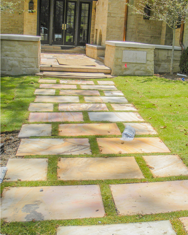 Sawn Earthtone Flagstone Stepping Stones