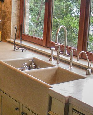 Nice 8SC Indiana Limestone Farmhouse Sink And Countertop